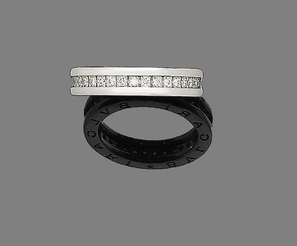 A diamond eternity ring, by Bulgari