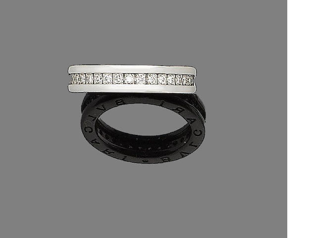 A diamond eternity ring, by Bulgari
