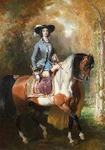 Alfred de Dreux (French, 1810-1860) Deux Amazones: Amazone en bleue; Amazone au lévier