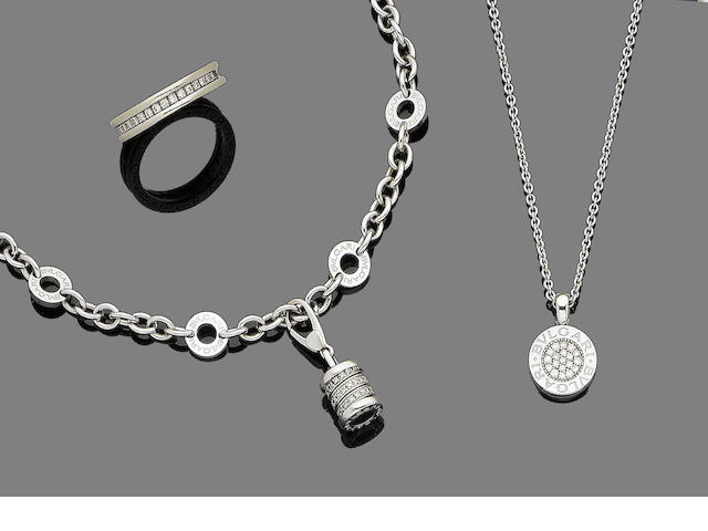 A diamond eternity ring, bracelet and pendant necklace, by Bulgari (3)