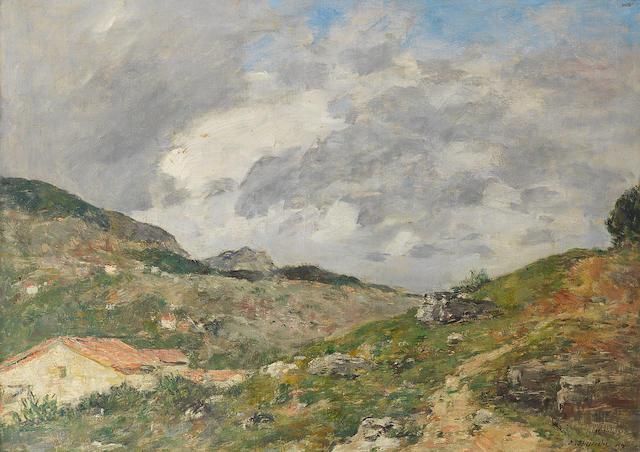Eugène Louis Boudin (French, 1824-1898) Montagnes, Environs de Nice