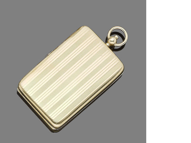 A gold compact, by Asprey,