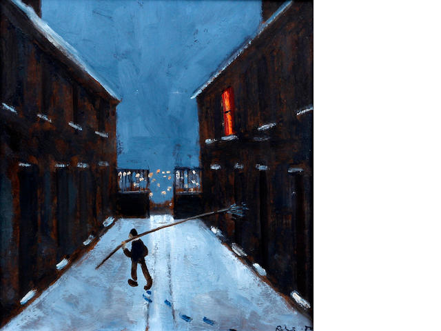 Harold Riley (British, 1934) The Knocker-upper