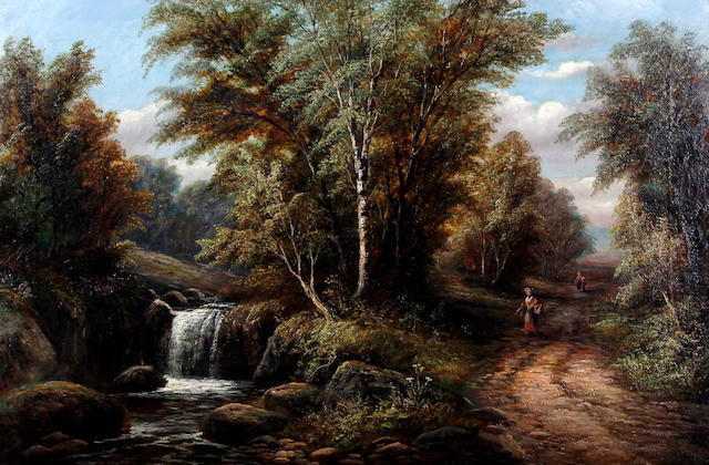 Joseph Mellor (British, active 1850-1855) 'Upper Fall, Fairy Dell, Middleton, Near Ilkley'