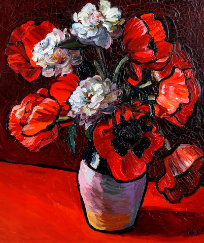 Theodore Major (British, 1908-1999) Still life of poppies