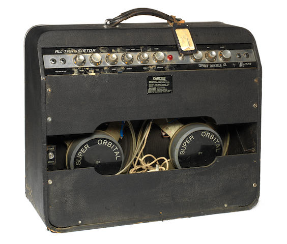 Bert Weedon's Burns Orbit Double 12 amp combo, 1960s,