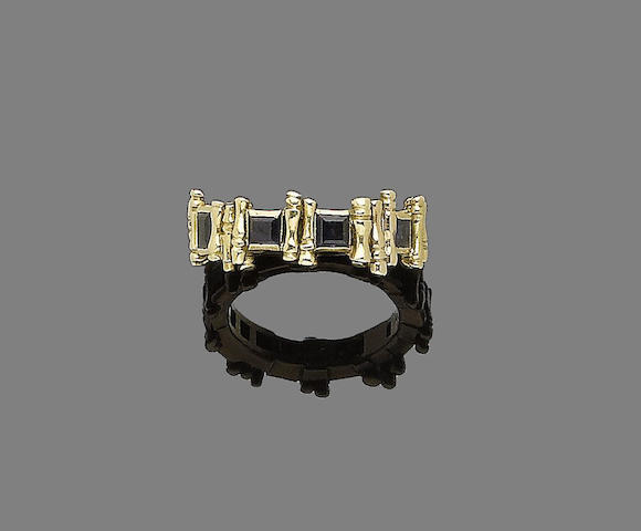 A sapphire eternity ring,  by Grima,