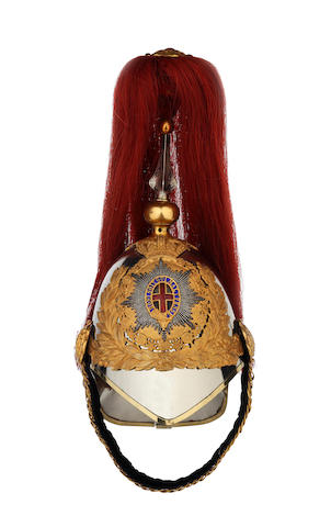 The Blues and Royals an Officer's 1871 Pattern Helmet.