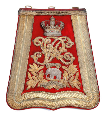19th (Princess of Wales's Own) Hussars Officer's Full Dress Sabretache c. 1870 - 1901