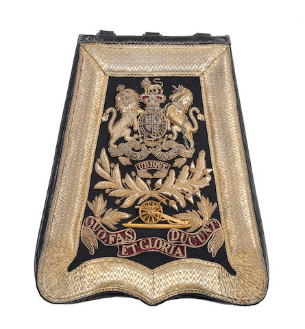 Royal Artillery Officer's Full Dress Sabretache and Foul Weather Cover c. 1874 - 1901