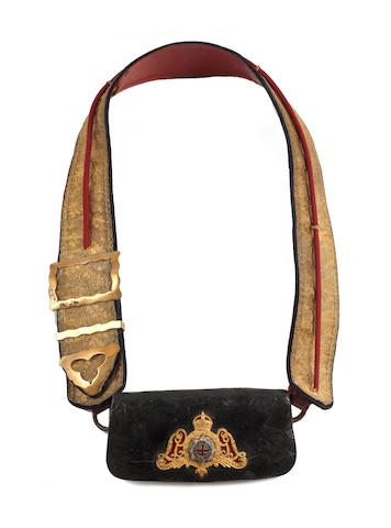 1st Life Guards Officer's Shoulder Belt & Pouch, Post 1902
