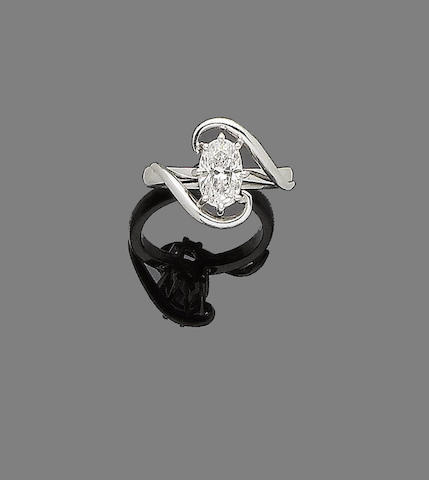A diamond single-stone ring, by Jan & Tom Wightman Goldsmiths,