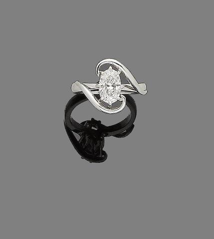 A diamond single-stone ring, by Jan & Tom Wightman Goldsmiths,
