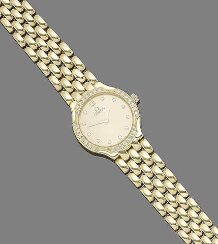 A diamond wristwatch, by Omega