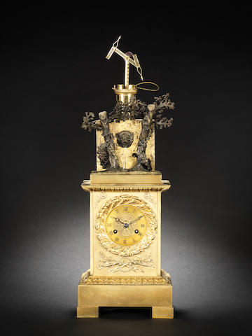 A second quarter of the 19th century Chappe semaphore automata clock