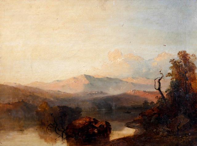 Circle of James Baker Pyne (British, 1800-1870) 'Rydal Water, Westmorland'