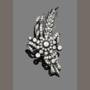 A late 19th century diamond spray brooch