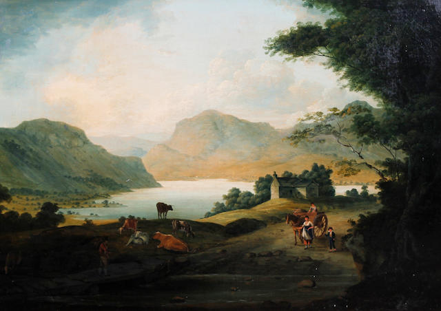 Felix Ferdinand Frederick Raffael Fielding (British, Sowerby, Yorkshire circa 1790-1853) 'A View of Ullswater, Lake District'