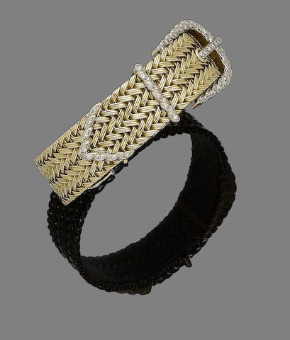 A diamond buckle bracelet,