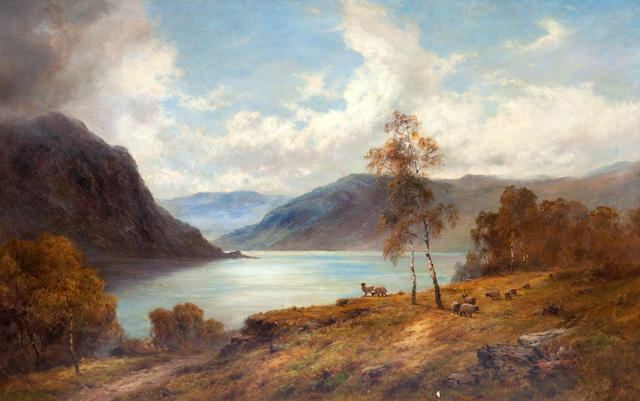 Alfred de Bréanski Snr. (British, 1852-1928) Mountain Mists, Loch Katrine 100 x 150 cm. (39 3/8 x 59 1/16 in.)