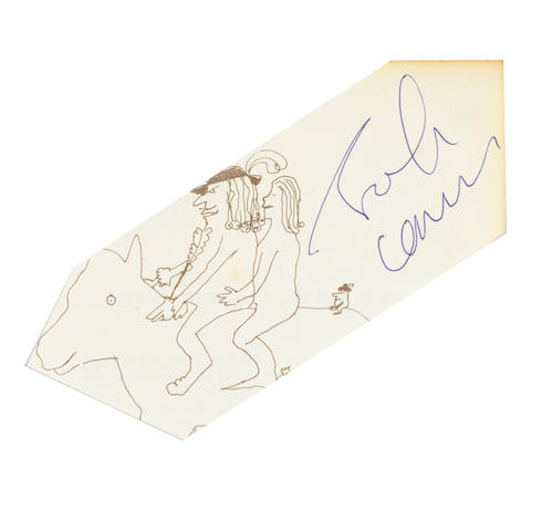 John Lennon: An autographed clipped page from 'In His Own Write',