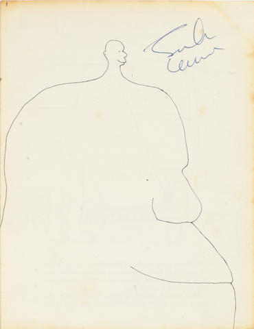 John Lennon: An autographed page from 'In His Own Write',