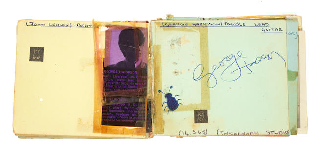 The Beatles: An autograph book signed twice by George Harrison, 1960s,
