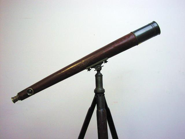 A 3-inch Broadhurst & Clarkson Admiralty refracting telescope on stand, English, 20th century,