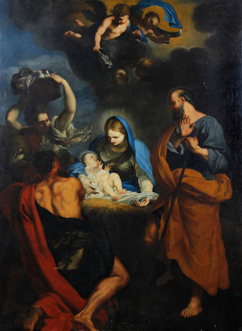 Follower of Carlo Maratta (Camerano 1625-1713 Rome) Adoration of the Infant Christ