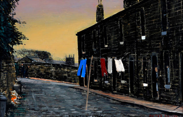 Peter Brook (British, 1927-2009) 'Fountain Street', Sowerby Bridge