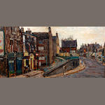 Peter Brook (British, 1927-2009) Town Street, Bramley, Leeds