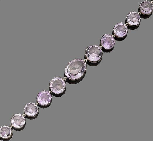 A 19th century amethyst rivière necklace