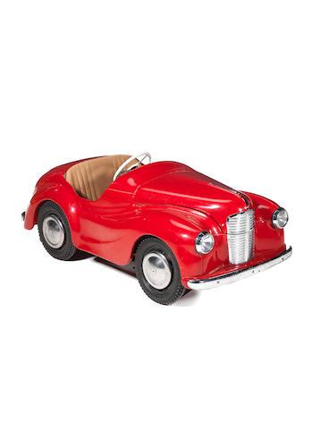 An Austin J40 pedal car,