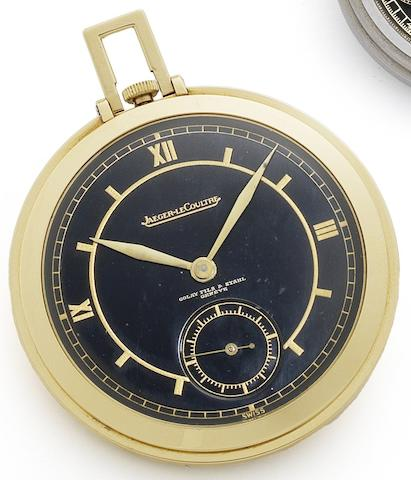 Jaeger-LeCoultre. An 18ct gold keyless wind open face pocket watch Retailed by Golay Fils & Stahl, Geneva, Circa 1930