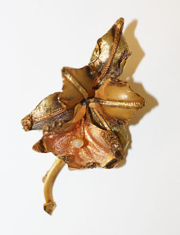 An orchid brooch,