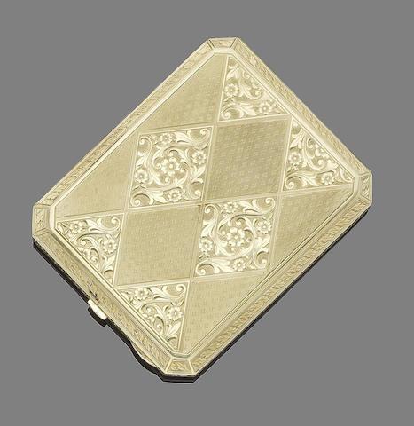 A cigarette case,