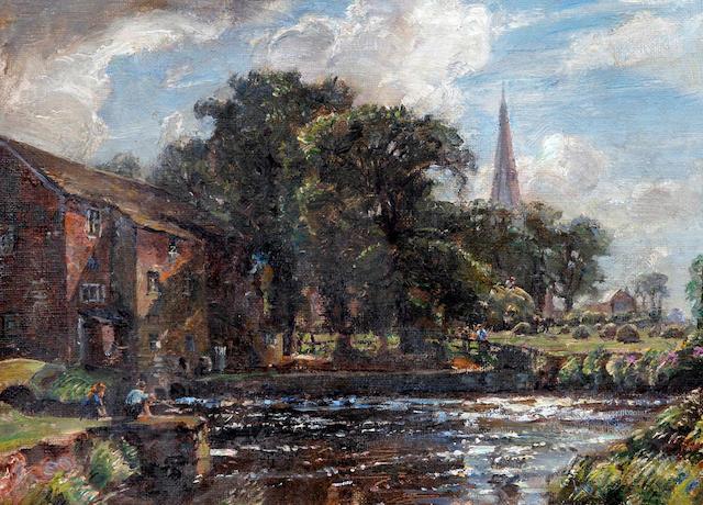 Herbert F. Royle (British, 1870-1958) 'Sefton Mill', Lancashire