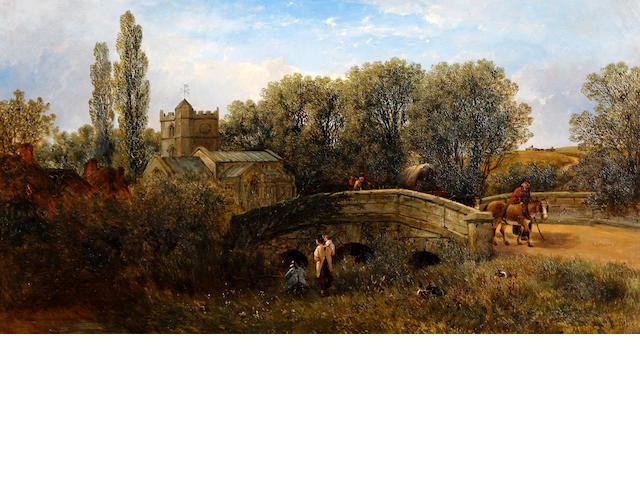 William Pitt (British, active 1849-1890) 'Combe Bisset, Wiltshire'