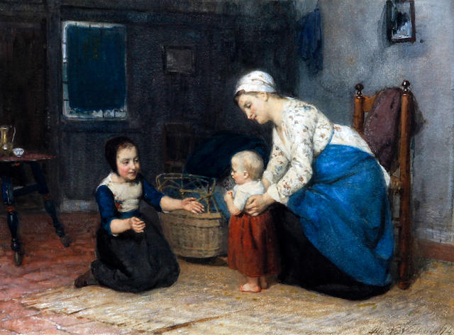 Albert Neuhuys (Dutch, 1844-1914) 'First Steps'