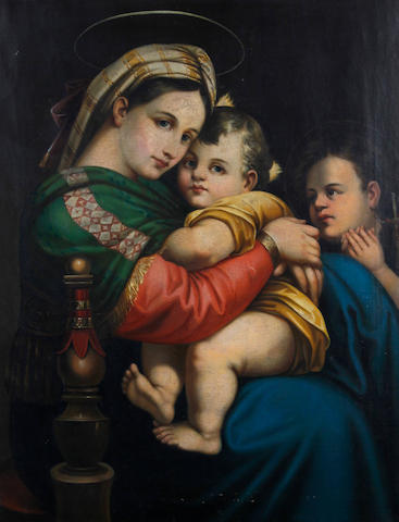 After Raphael (Italian, 1483-1520) Madonna, Child and infant St. John