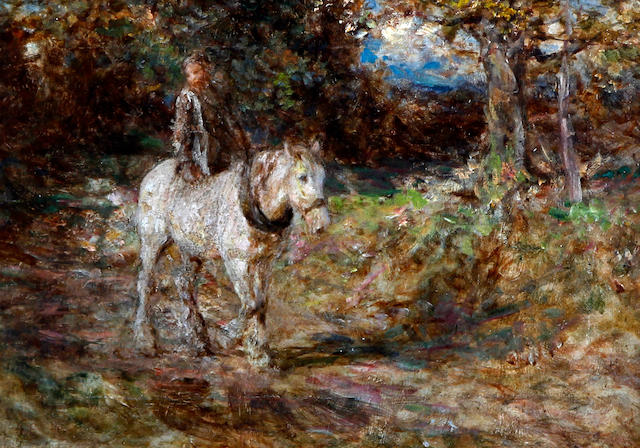 Edward Stott, ARA (British, 1859-1918) Riding the farm horse