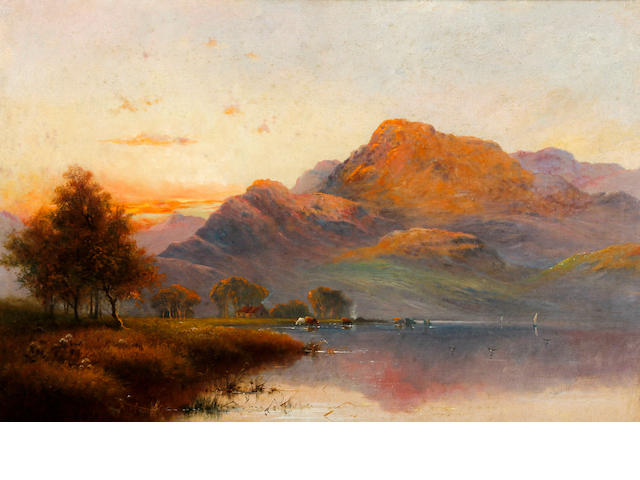 Alfred Fontville de Breanski (British, 1877-1957) Ben Nevis at sunset