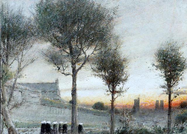 Albert Goodwin, RWS (British, 1845-1932) 'Jumieges Normandy'