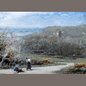 Albert Goodwin, RWS (British, 1845-1932) 'Hastings'