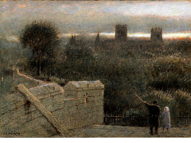 Albert Goodwin, RWS (British, 1845-1932) 'York Minster' from the walls