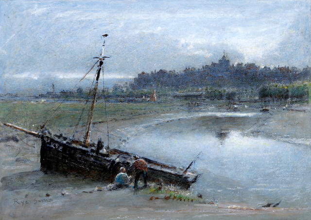 Albert Goodwin, RWS (British, 1845-1932) 'Rye Sussex'