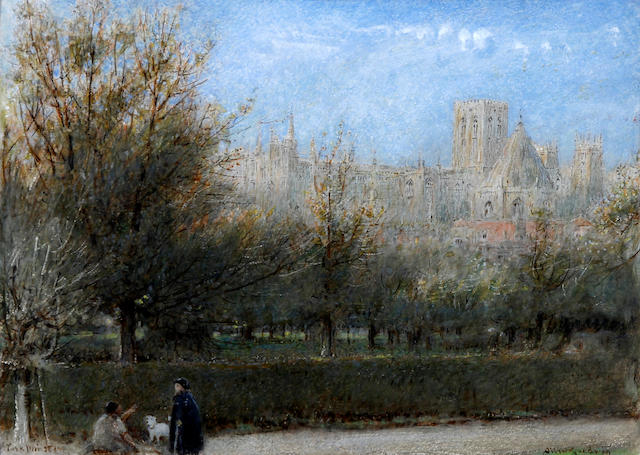 Albert Goodwin, RWS (British, 1845-1932) 'York Minster'