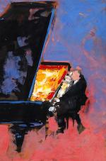 John Heritage (British, 1931-1994) A concert pianist