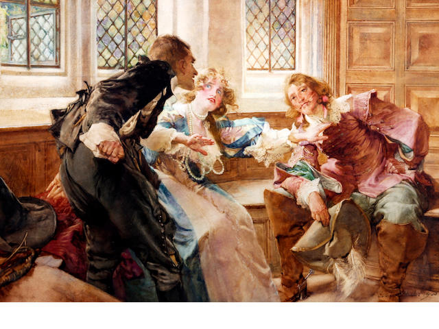 Edgar Bundy (British, 1862-1922) 'The Peacemaker'