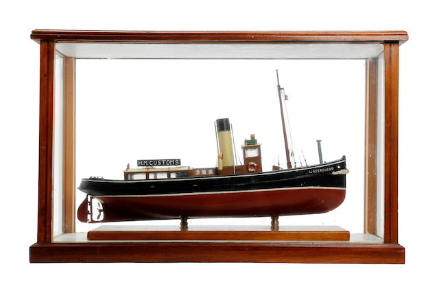 A model of HM Customs Tug 'Waterguard'